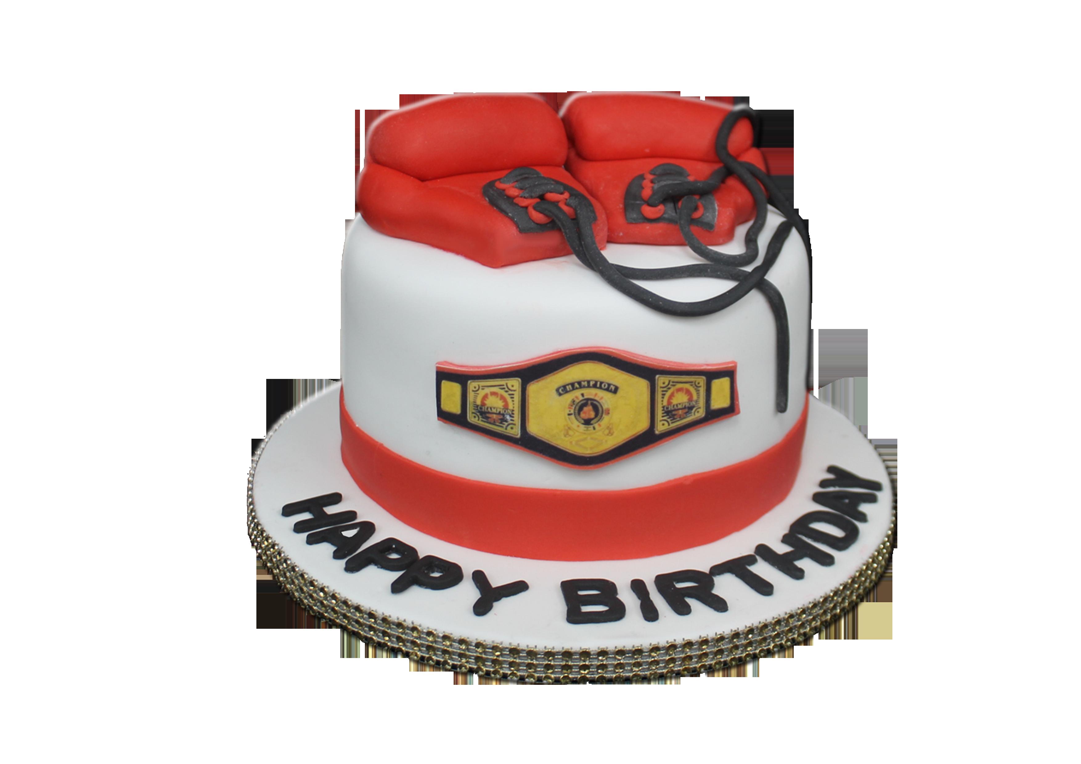 Awe Inspiring Boxing Gloves Cake B129 Bismillah Bakery Birthday Cards Printable Inklcafe Filternl