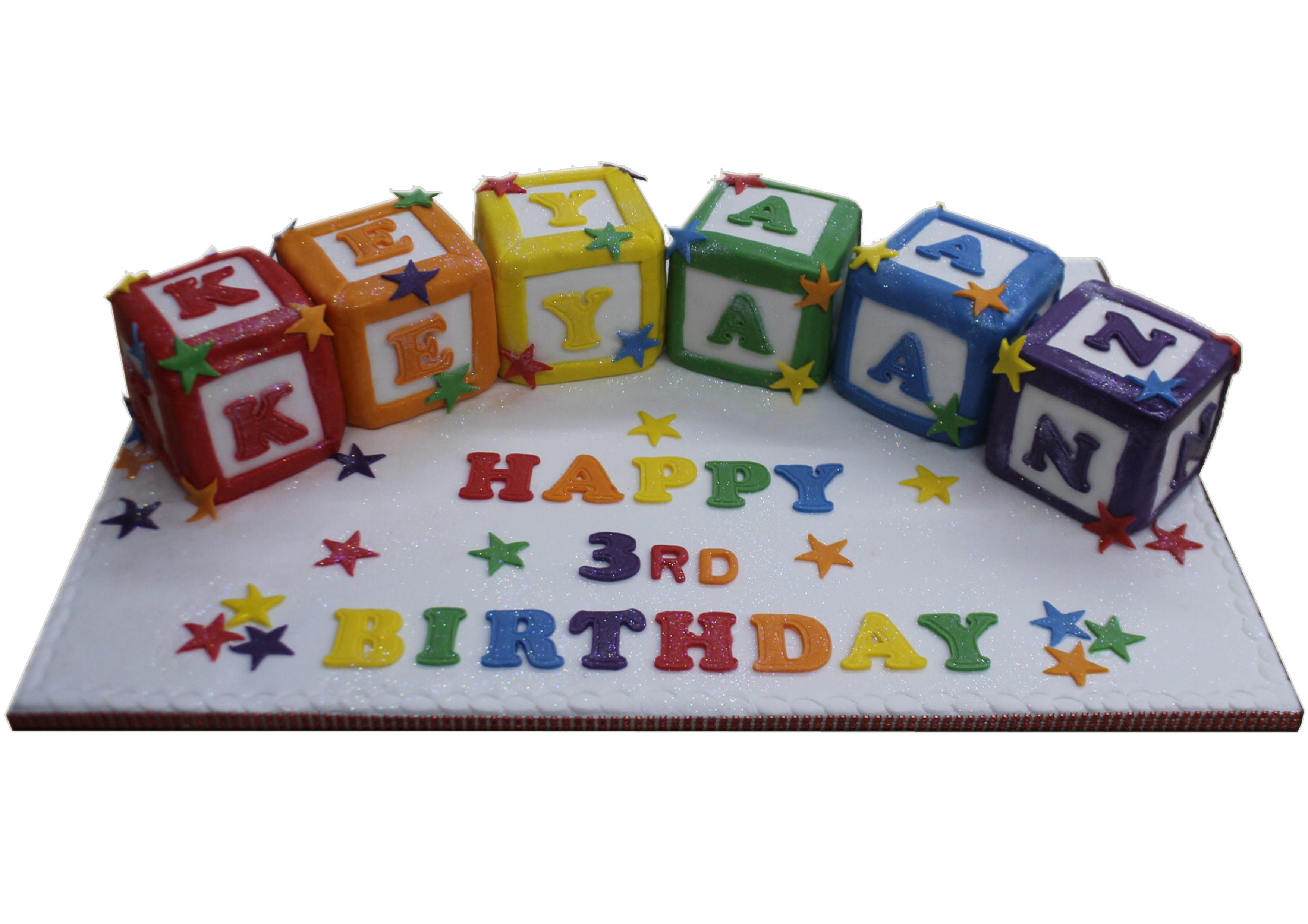 Groovy Blocks Name Cake B171 6 Letters Only Bismillah Bakery Birthday Cards Printable Riciscafe Filternl